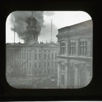 Image of [Borough Hall Tower fire] - Adrian Vanderveer Martense collection