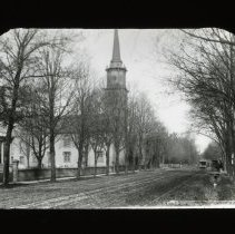 Image of [Church on Flatbush Avenue] - Adrian Vanderveer Martense collection