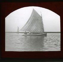Image of [Men sailing in Sheepshead Bay] - Adrian Vanderveer Martense collection