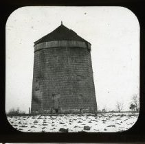 Image of [Windmill in snow-covered field] - Adrian Vanderveer Martense collection
