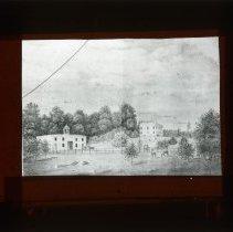 Image of [Drawing, Bleuman Heuvel estate, Flatbush] - Adrian Vanderveer Martense collection