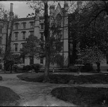 Image of [Garden and back exterior of Packer from the hedge]