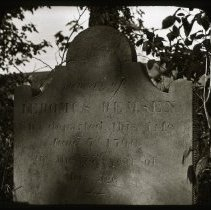 Image of [Jeromus Remsen's Gravestone], Trotting Course Lane and Metropolitan Avenue - Ralph Irving Lloyd lantern slides
