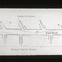 Image of [Map of Fulton Avenue] - Ralph Irving Lloyd lantern slides