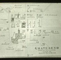 Image of Map of Gravesend Village - Ralph Irving Lloyd lantern slides