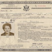 Image of Certificate of Naturalization for Hilde Blumenthal