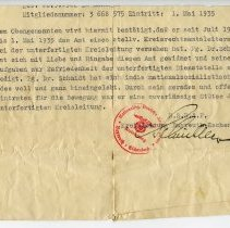 Image of Party allegiance letter