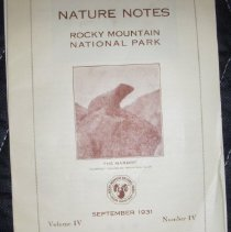 Image of Nature Notes of Rocky Mountain National Park Collection - 1982.079.001