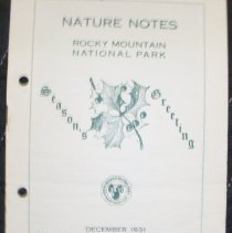 Image of Nature Notes of Rocky Mountain National Park Collection - 1982.079.004