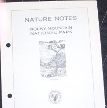 Image of Nature Notes of Rocky Mountain National Park - 1982.079.012