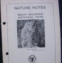 Image of Nature Notes of Rocky Mountain National Park Collection - 1987.003.007