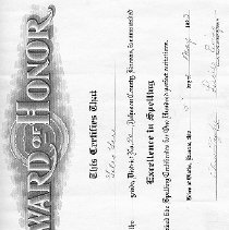 Image of Award of Honor