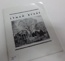 Image of 796.97 BYX - Catalog of an exhibition of the prints of Lyman Byxbe, a regular summer visitor of Estes Park.