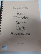 """Image of 978.868 MEM - Contains historic information on the houses of """"Holy Hill,"""" an area located adjacent to the YMCA of the Rockies and developed by Dr. John Timothy Stone. Includes cabin histories on Dalcliffs, Cliff Crest, Tree Tops, Wright Turn, Alber's Rock Cliff, Rivendell, Scott, Marsh Cliff, Dean Cabin, High Pines, Cliff View, Hudnut, Silver Sage, McClary, Phillips, Royal View, and Thomson as recounted by those who lived there."""
