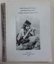 "Image of 978.80049 MCB - ""Prepared for the National Park Service, Rocky Mountain National Park, Intermountain Region, Department of the Interior ... the materials presented here focus on the two major groups inhabiting, hunting, and praying in the area in and around Rocky Mountain National Park: the Ute and Arapaho."""