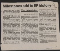 Image of Article reviewing the activites of the Estes Park Area Historical Museum during 1987.
