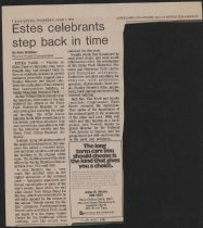 Image of Article from Loveland Daily Reporter-Herald about dedication of National Park Service building