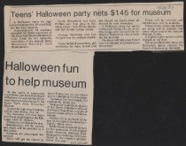Image of Articles about Halloween party to raise money for museum