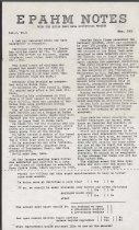 Image of Estes Park Area Historical Museum Newsletter Volume 2, Number 1