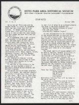 Image of Estes Park Area Historical Museum Newsletter Volume 5, Number 2