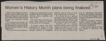 Image of Newspaper article about Women's History Month activities