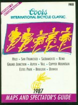 Image of Spectators guide to the 1987 Coors International Bicycle Classic