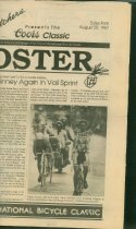 Image of Newspaper supplement of Coors International Bicycle Classic race results and information on the upcoming stage