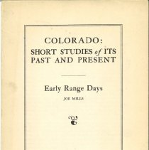 Image of 978.8 MIL - Essay on cattle ranching in Colorado.