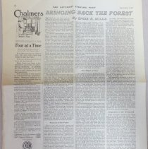 Image of article in The Saturday Evening Post, September 7, 1912 written by Enos Mills
