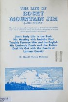 """Image of 978.868 DUN - Based on A Lady's Life in the Rocky Mountains, by I.L. Bishop, this book includes:  """"Jim's early life in the Park, his meeting with Isabella Bird, trouble between him and the English, his untimely death and the rotten deal he got with the courts of Larimer County."""" -- Cover."""