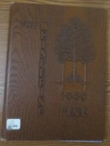 Image of 373.3978 WHI 1949 - The 1949 volume of the Estes Park High School yearbook, titled The Whispering Pine.