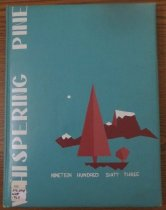 Image of 373.3978 WHI 1963 - The 1963 volume of the Estes Park High School yearbook, titled The Whispering Pine.