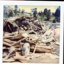 Image of Debris pile caused by the Lawn Lake flood