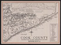 Image of Cook County Arrowhead, tourism map