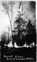 Image of Forest fire at Grand Marais (from Juanita Anderson Collection)
