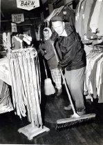 Image of Cleaning up at Federated after storm in 1960