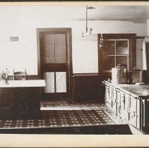 "Image of ""View in Kitchen. Church Family Dwelling. Mt. Lebanon, N.Y."" - Church Family, Mount Lebanon, NY"