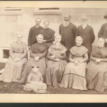 Image of [Group of Shakers at the Center Family, Mount Lebanon, NY] - Center Family, Mount Lebanon, NY