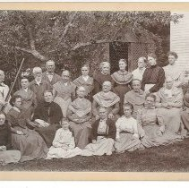 Image of Group with Arbor, North Family, Mount Lebanon, NY