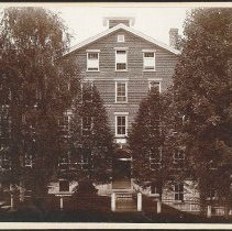 """Image of """"Front (main) Entrance. Church-Family Dwelling. Mt. Lebanon, N.Y."""" - Church Family, Mount Lebanon, NY"""