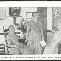 Image of Anna White, Sarah and Martha Burger, North Family, Moount Lebanon, NY