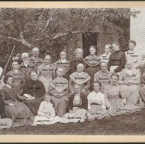 Image of Group with Arbor, North Family, Mount Lebanon, NY (with names)