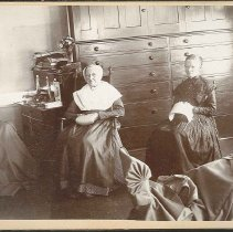 Image of [Tailors' Workshop, Church Family, Mount Lebanon, New York] - Church Family, Mount Lebanon, New York