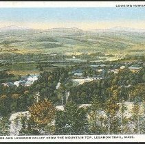 Image of Shaker Village and Lebanon Valley From the Mountain Top, Lebanon Trail, Mass. - Mount Lebanon, NY