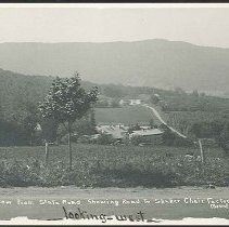 Image of View From State Road, Showing Road to Shaker Chair Factory, Lebanon, NY - Mount Lebanon, NY