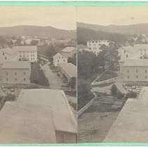 Image of No. 27. Village Looking South from Roof of Stone Barn - Mount Lebanon, New York