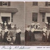 "Image of ""Group of Shakers.""  - Mount Lebanon, New York"