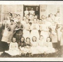 Image of [In Front of the School, Church Family] - Mount Lebanon, NY