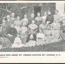 Image of Group With Arbor, Mt. Lebanon Shakers, Mt. Lebanon N.Y. - Mount Lebanon, NY
