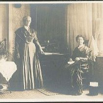 Image of [Catherine Allen (seated) and Martha Burger] - Mount Lebanon, NY